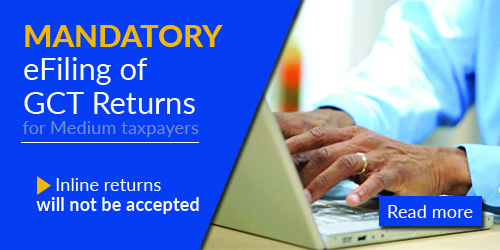 Mandatory eFiling of GCT Returns