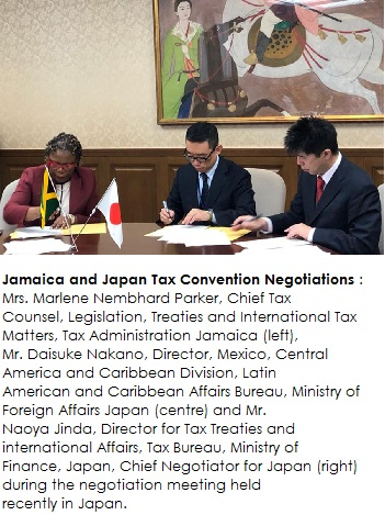 Jamaica and Japan Tax Convention Negotiations